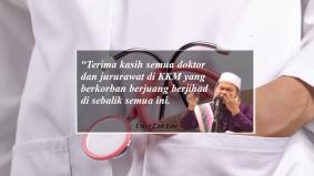 """Terima kasih semua doktor dan nurse di KKM"" – Ustaz Ebit Lew"