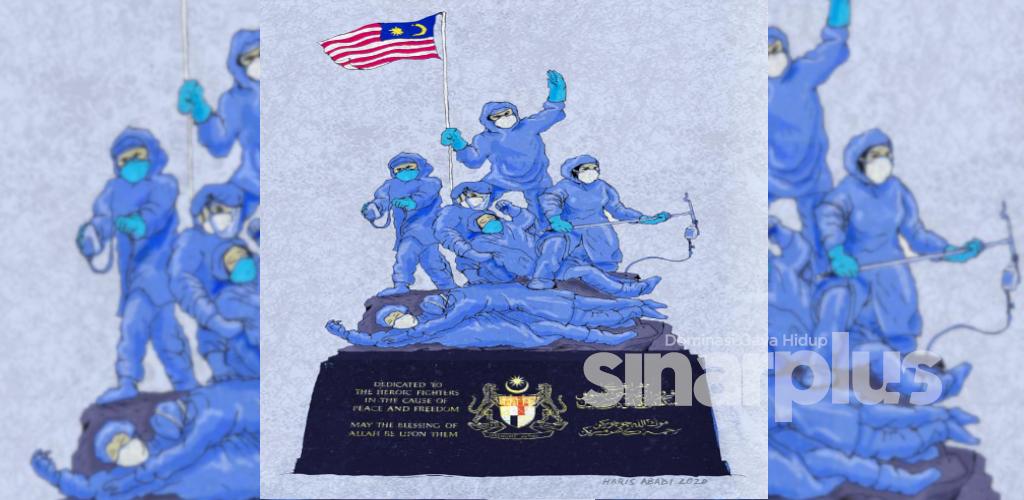 Tugu Negara frontliners ilham pensyarah seni UMK menyentuh perasaan