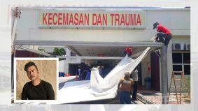 Rico Rinaldi bantu taja khemah khas untuk pesakit, staf Covid-19 Hospital Putrajaya