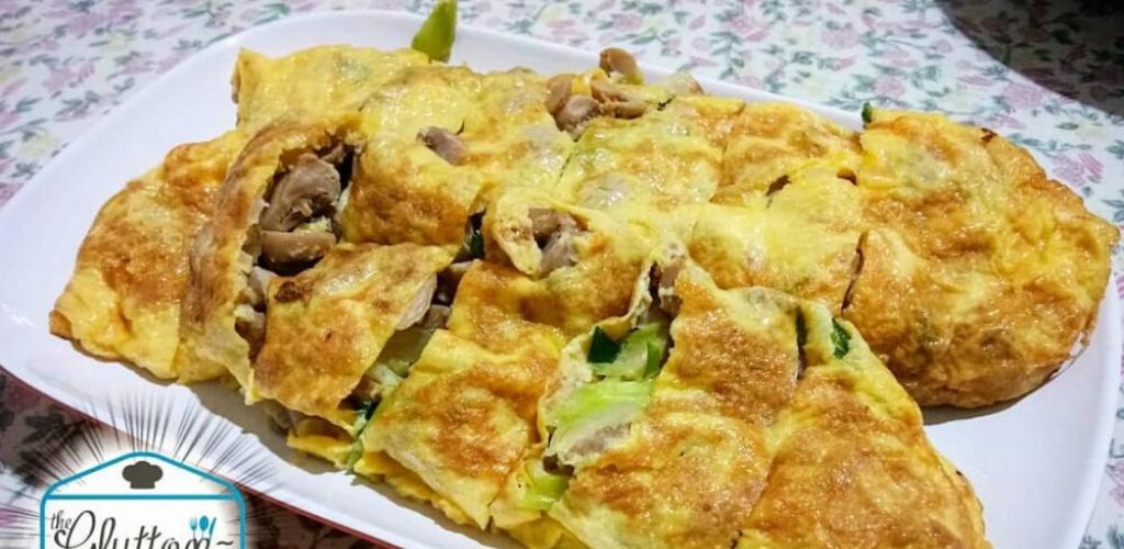 omelet cendawan