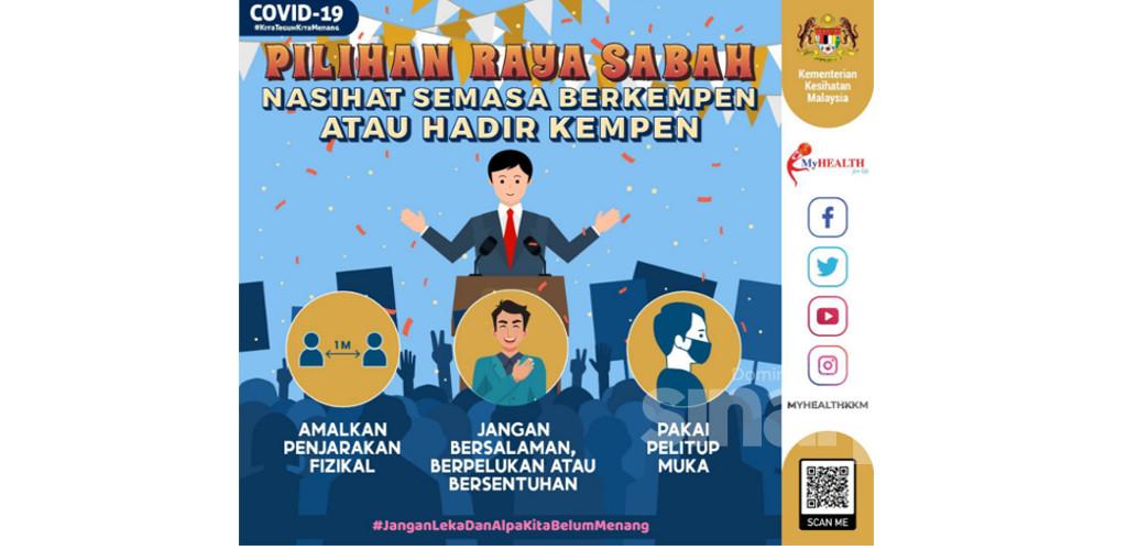 PRN Sabah: KKM rayu ikuti SOP bantu negara kawal penularan Covid-19