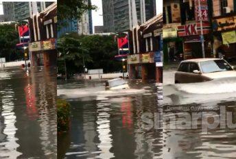 'Jangan pandang hina kereta KELISA ok! Chaiyokkk!' - Tular Video Perodua Kelisa redah banjir