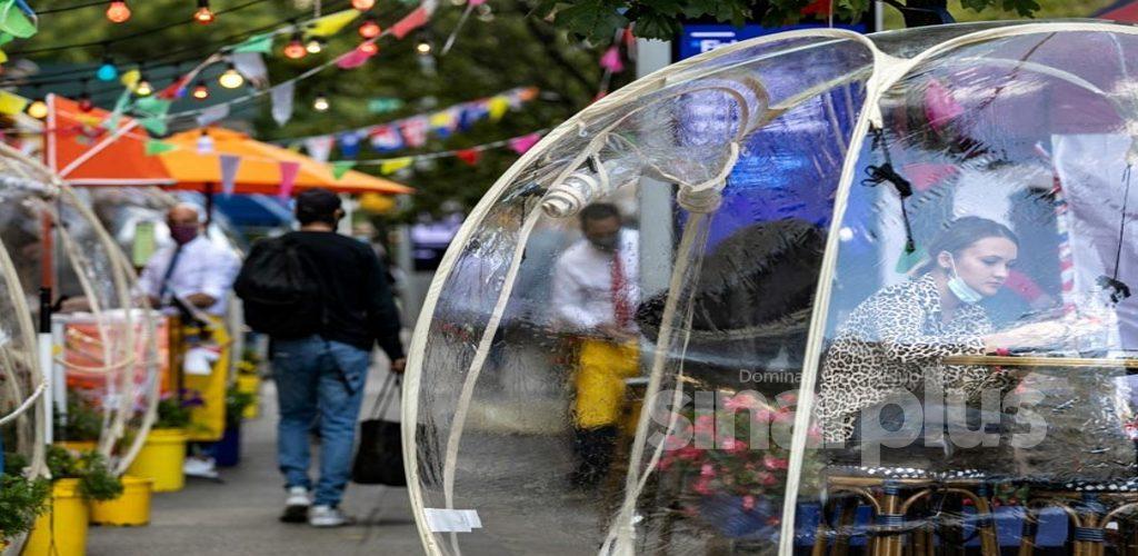 Jamu selera cara alfresco dalam gelembung plastik trend baharu warga New York