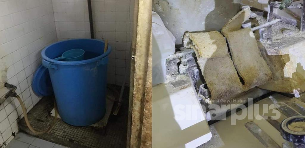 Jijik! Kilang roti guna air tandas kotor