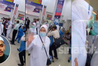 [VIDEO]Sayunya... Laungan azan mengiringi petugas frontliner ke Sabah