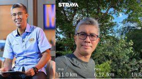 Tamat kuarantin 14 hari, Tengku Zafrul teruja habiskan 11KM larian
