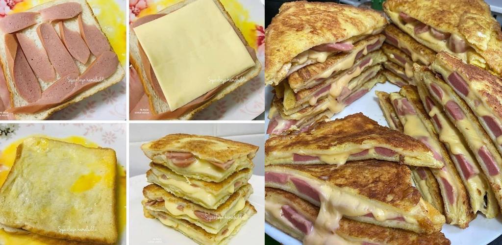 Roti sosej cheese leleh simple... alahai sedapnya!