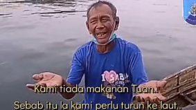 [VIDEO]Gigih pak cik Ladja kejar bot Polis Marin demi bantuan makanan penduduk