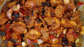 Resipi ayam masak cili kering style cina muslim