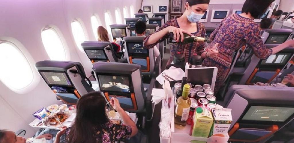 Wow! Pesawat A380 Singapore Airlines jadi restoran mewah