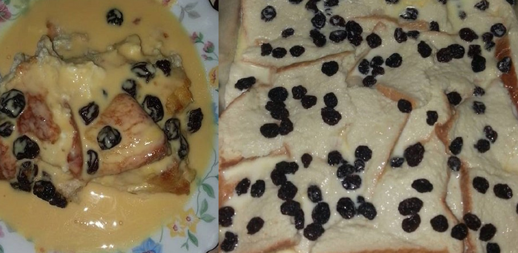 Puding roti sos kastad enak lemak berkrim