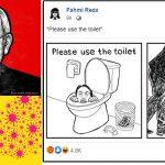 Lukis wajah mirip Dr Noor Hisham dalam mangkuk tandas, Fahmi Reza disifatkan biadap