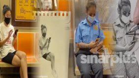 [VIDEO] Bakat luar biasa lelaki melukis dalam kereta api bergerak dengan hasil yang wow dah 'hidup'!