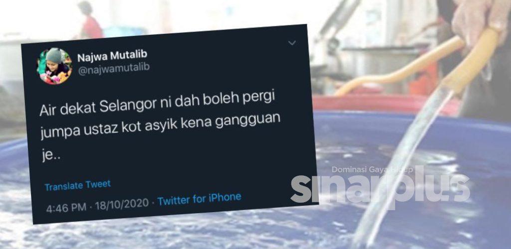 Warganet bergurau mohon Air Selangor pergi jumpa ustaz akibat sering mendapat 'gangguan'