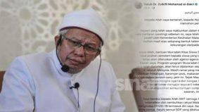 """""""Kepada Allah saya berserah dan memohon pertolongan"""" – Dr Zulkifli Mohamad"""