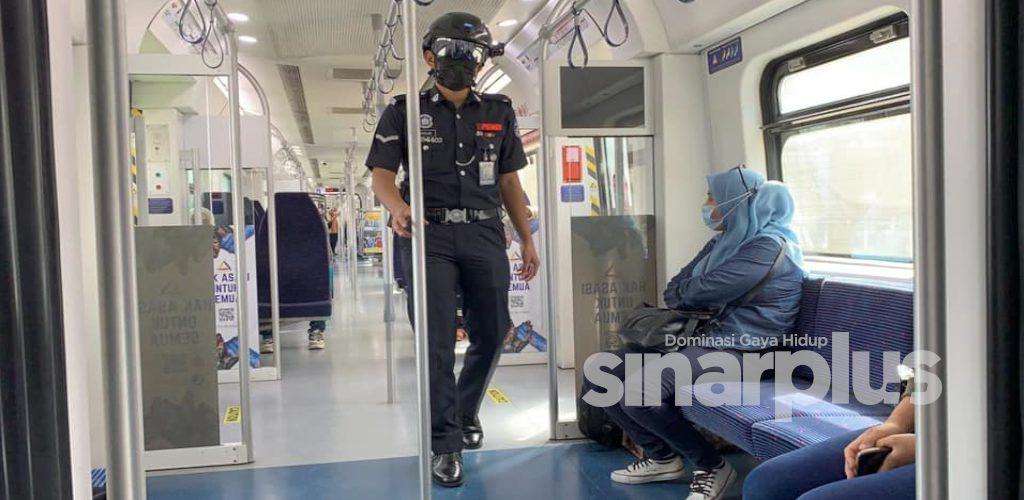 KTMB guna helmet ala Robocop perangi pandemik Covid-19