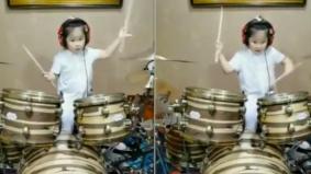 [VIDEO] Ligat main drum, bakat kanak-kanak perempuan 5 tahun ini tular seluruh dunia
