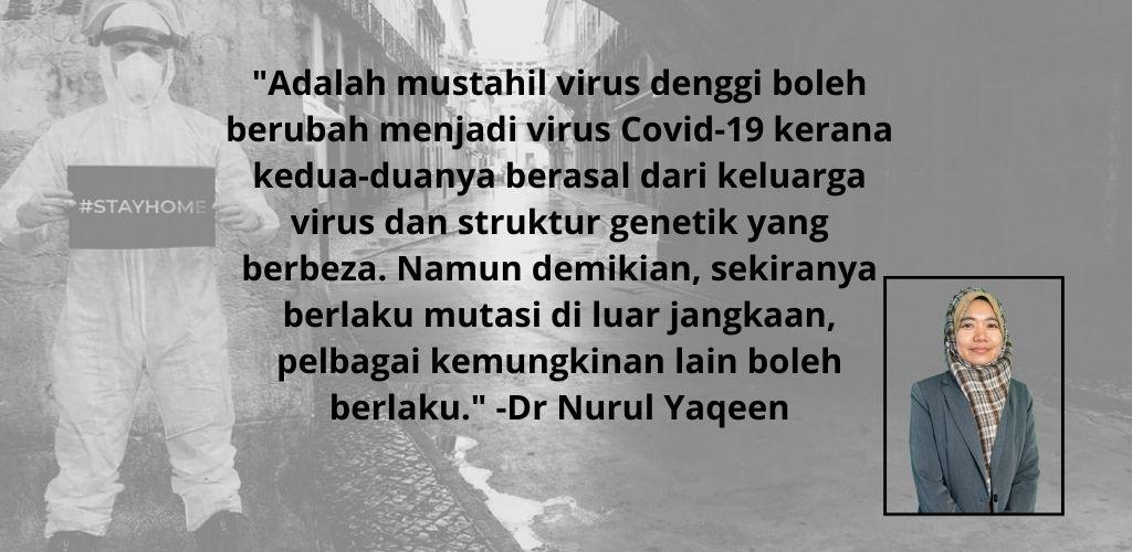 Bila demam, ramai keliru terkena virus Covid-19 atau denggi, pakar dari dalam dan luar negara beri penjelasan...
