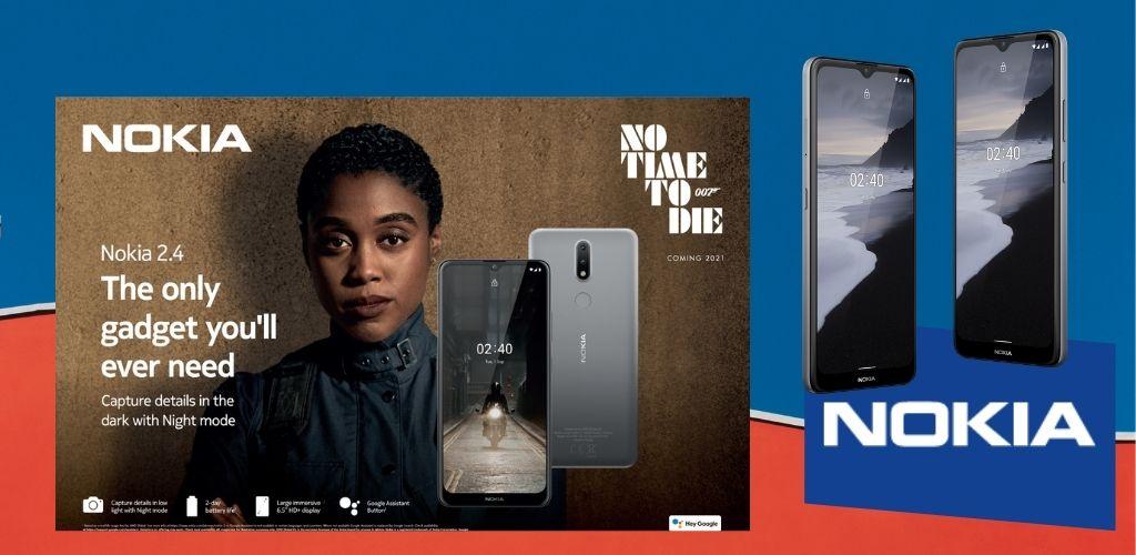 Nokia 2.4 lebih stail, bateri tahan dua hari tu...