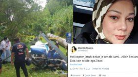 Helikopter terhempas dekat rumah… Sharifah Shahira terkejut ingat tanah runtuh