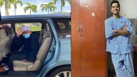 Pak Wan datuk Alif Satar, 91 tahun, sudah dibenarkan pulang selepas rawatan Covid-19