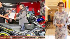 Tak sampai 48 jam tular motor dicuri, Permaisuri Selangor belikan gadis ini motosikal baharu