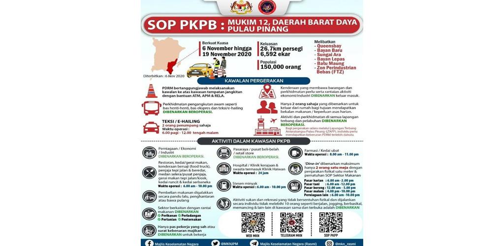 23 perkara boleh dan tak boleh dilakukan ketika PKPB, langgar kena denda