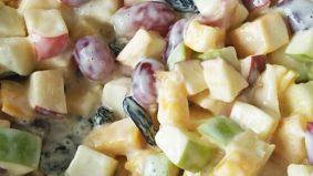 Salad buahan segar enak dan berkhasiat, mudahnya!