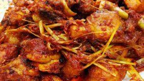 Ayam masak serai bersantan enak tak terkata