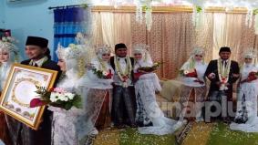 Lelaki kahwin dua, sanding serentak, isterinya sama cantik