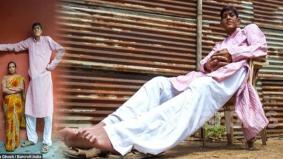 Lelaki tertinggi India sukar cari jodoh, impikan isteri dan keluarga sendiri