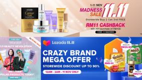 Madness Sale 11.11 janjikan harga runtuh buat kaki shopping. Jom chup dulu