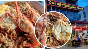 Char kuetiau 'kluster kayangan', Char Kuey Teow Abang Sayang unik, tampilkan kelainan