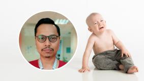 Lewat malam datang klinik sambil menangis tidak berhenti, rupa-rupanya bayi ini…