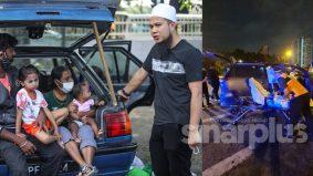 Ustaz Ebit selesaikan masalah keluarga menginap dalam kereta, mohon doa orang ramai staf kemalangan