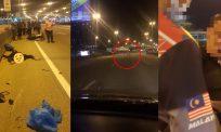 [VIDEO]Lagi kejadian maut pemandu mabuk… kereta rempuh 'rider' penghantar makanan
