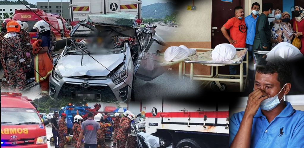 Kemalangan ragut nyawa 3 anak dan ibu parah, ini kronologi kejadian