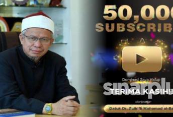 Menteri Agama rakam terima kasih saluran YouTube cecah 50,000 subscriber