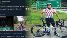 Isteri baru tahu basikal suami berharga RM45,000 sama seperti kepunyaan KJ! Warganet terus 'buat kerja'