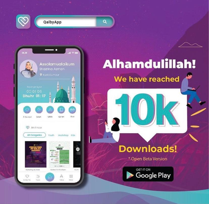Mizz Nina lancarkan aplikasi Islamik, Qalby App terima pujian ramai