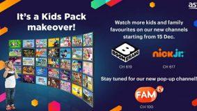 Dua saluran baharu dalam pek hiburan kanak-kanak di Astro