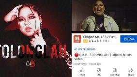 MV Tolonglah Cik B kekal trending di tangga pertama YouTube