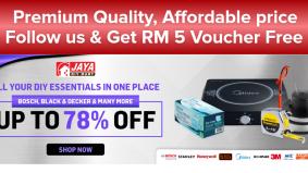 Jaya DIY Mart tawar potongan harga hingga 88 peratus untuk perkakas rumah