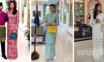 Che Puan Khaleeda manis, elegan berbaju kurung songket tabur