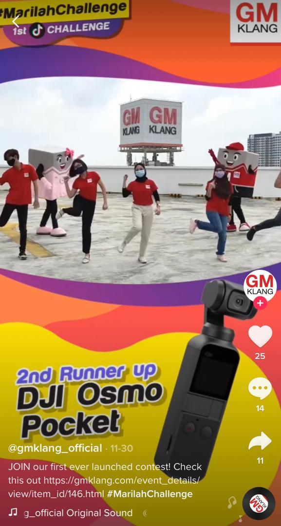 GM Klang lancar #MarilahChallenge di TikTok, peserta bakal menang iPhone 12