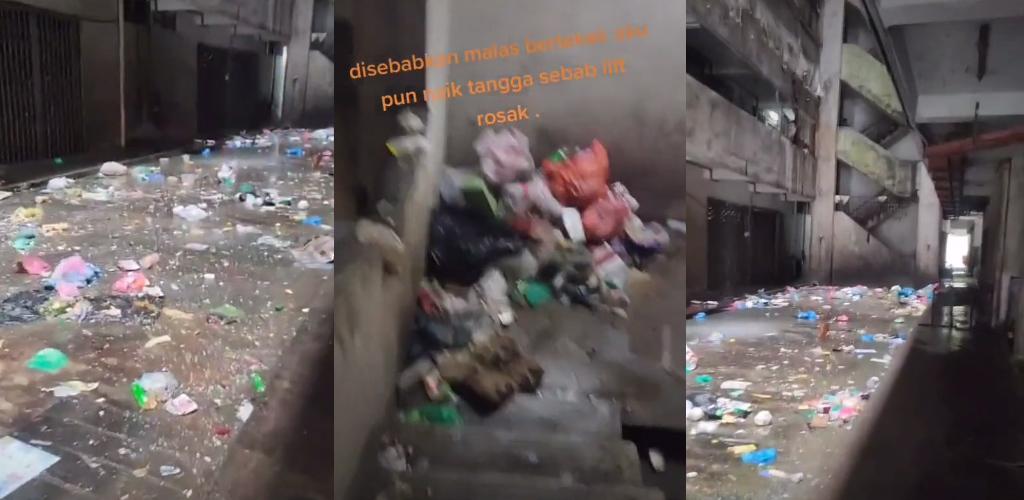 [VIDEO]Flat dipenuhi sampah, rider terpaksa redah hantar makanan pelanggan
