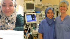 Doktor Malaysia hasilkan tudung pakai buang bersteril pertama di UK tercalon British Muslim Award