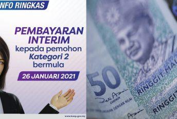 Pembayaran interim RM1,000 pemohon Kategori 2 i-Sinar sudah bermula