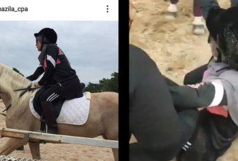 Wanita sarat 7 bulan jatuh ketika tunggang kuda, rupanya ini terjadi