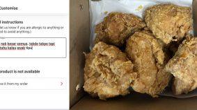 Warganet teruja, lelaki ini dedah cara pesan penghantaran ayam KFC saiz besar